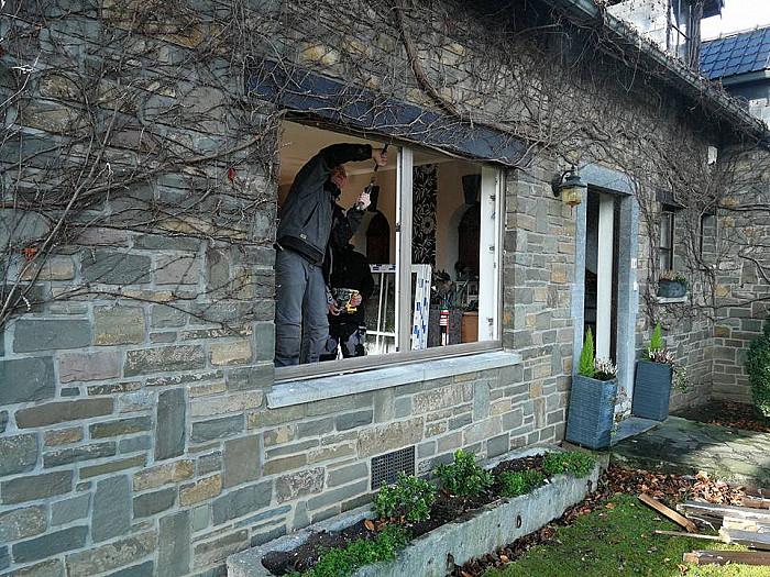 Fenêtre en bois à Verviers