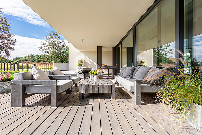 Terrasse en bois à Verviers