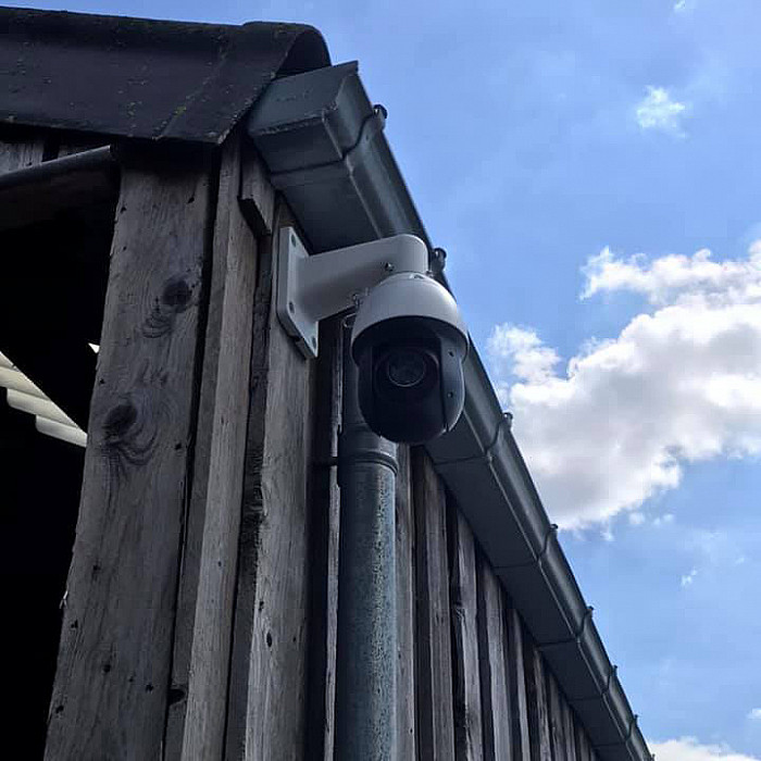 Installation de caméras de surveillance