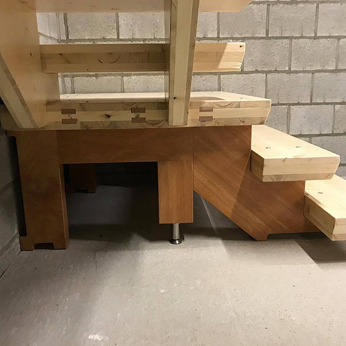 Création d'escaliers en bois à Ans