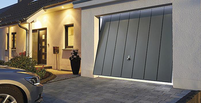 Installation de porte de garage basculante