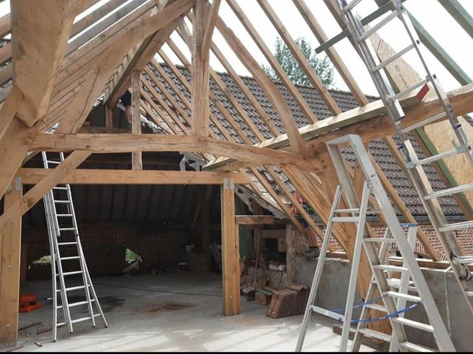 toiture ossature bois - toiturier - couvreur -construction toiture - bois