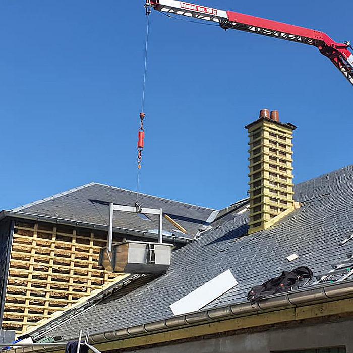 Travaux de rénovation de toit
