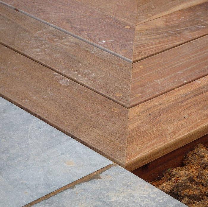 Placard, plan de travail en bois, terrasse en bois, dressing