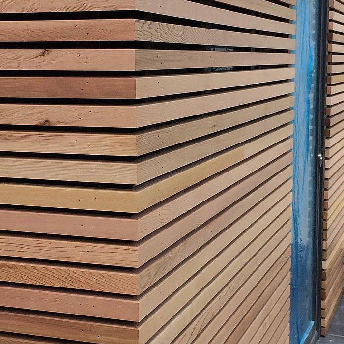Pose de bardage en bois à Namur