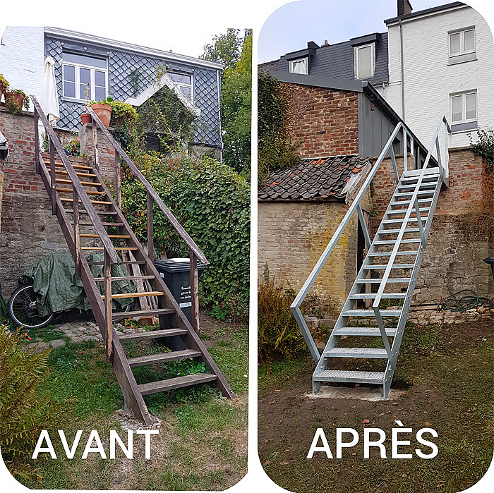 Création d'escaliers métalliques à Esneux, Aywaille