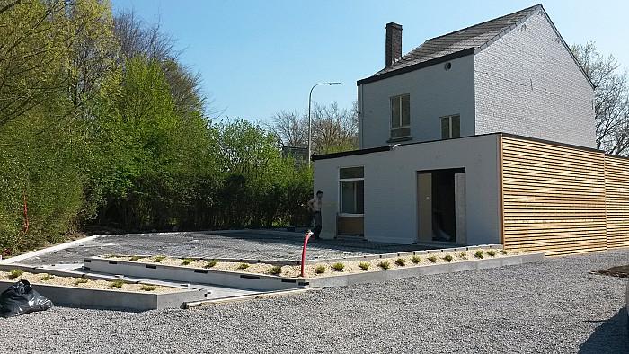 Aménagement des allées de garage en béton à Namur
