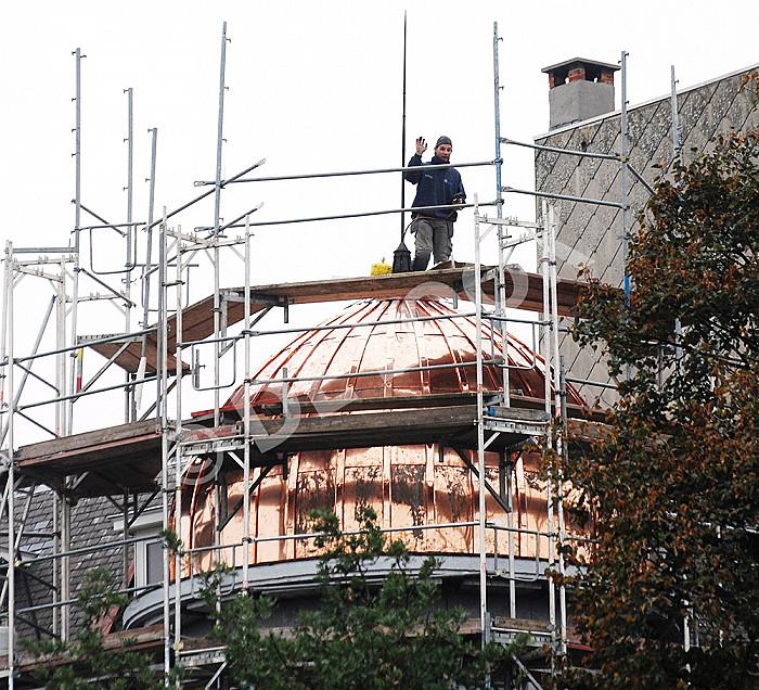 Construciton de toiture dôme en cuivre